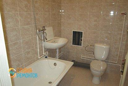 Ремонт санузла в трехкомнатной квартире 54 кв.м.