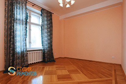 Косметический ремонт комнаты в 4-х комнатной квартире 80 кв.м.