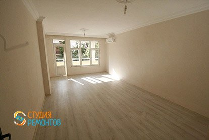Ремонт гостиной в четырехкомнатной квартире 81 кв.м.