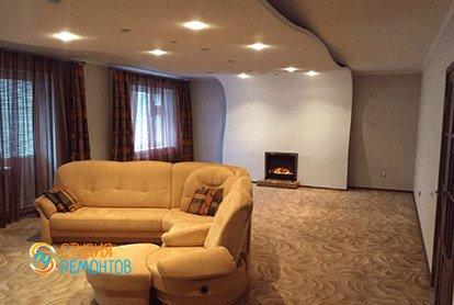 Косметический ремонт гостиной в пятикомнатной квартире 94 кв.м.