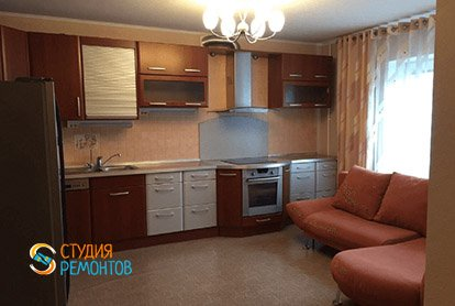 Косметический ремонт кухни с залом в пятикомнатной квартире 94 кв.м., фото-1
