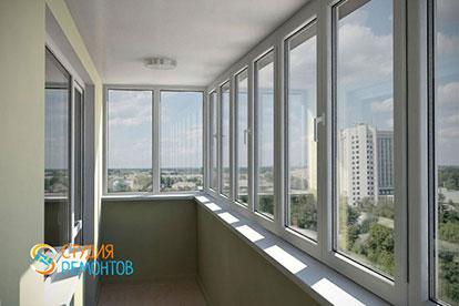Косметический ремонт балкона 6 кв.м.