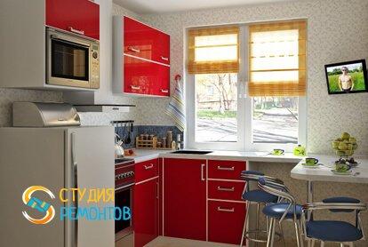 Косметический ремонт кухни 5 кв.м.