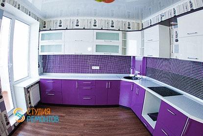 Косметический ремонт кухни в квартире-студии 31 м2