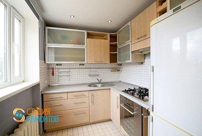 Косметический ремонт кухни в маленькой студии 27 кв.м.
