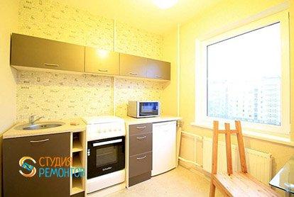 Ремонт кухонной зоны в студии 35 кв.м.