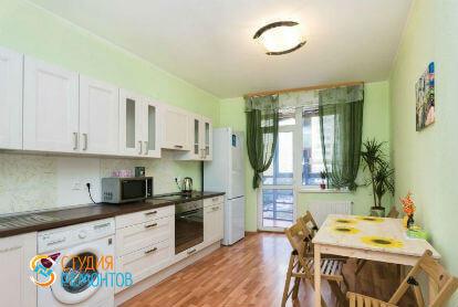 Косметический ремонт кухни в однокомнатной квартире 34 кв. м.