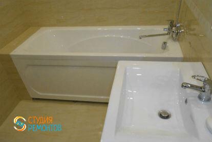 Косметический ремонт ванной в двухкомнатной квартире 43 кв. м.