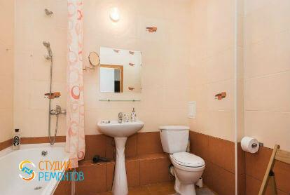 Косметический ремонт ванной в однокомнатной квартире 34 кв. м.