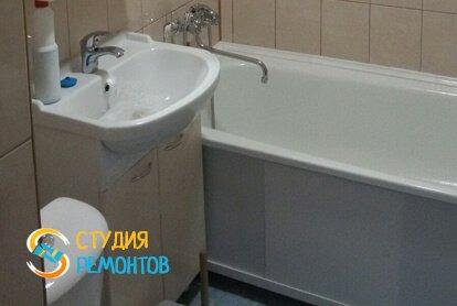 Косметический ремонт ванной 6,55 кв.м.