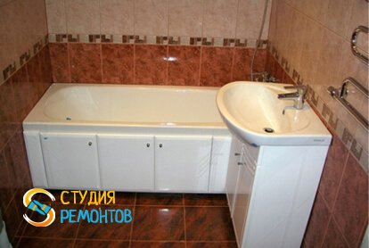 Косметический ремонт ванной комнаты 5,5 м2