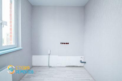 Чистовая отделка кухни в однокомнатной квартире 32 кв.м. фото-1