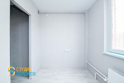 Чистовая отделка кухни в однокомнатной квартире 32 кв.м. фото-2