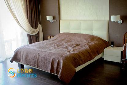Евроремонт спальни в однокомнатной квартире 42 м2 фото-1