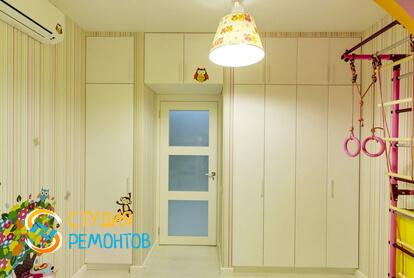 Евроремонт детской в двухкомнатной квартире 47 кв.м.