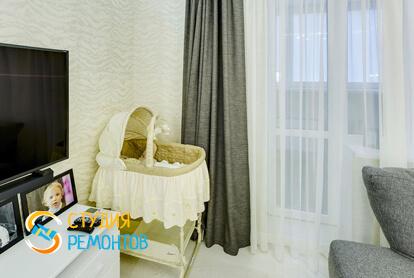 Евроремонт гостиной в двухкомнатной квартире 47 кв.м.