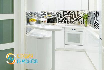Евроремонт кухонной комнаты в двухкомнатной квартире 47 кв.м.