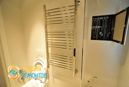 Евроремонт санузла в двухкомнатной квартире 50 кв.м.