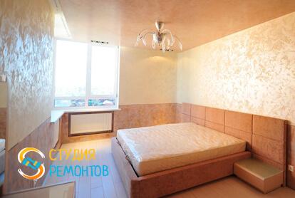 Евроремонт спальни в двухкомнатной квартире 50 кв.м.