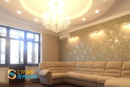 Евроремонт гостиной в трехкомнатной квартире 76 кв.м.