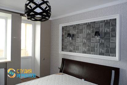 Евроремонт спальни в трехкомнатной квартире 62,4 кв.м. фото 1