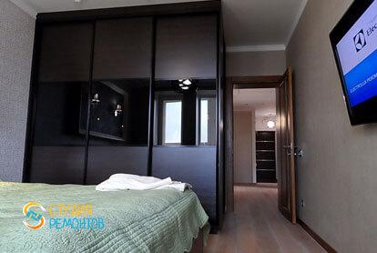 Евроремонт спальни в трехкомнатной квартире 62,4 кв.м. фото 2