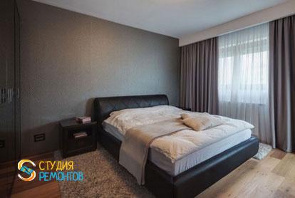 Евроремонт спальной комнаты в трехкомнатной квартире 62,4 кв.м.