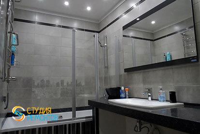 Евроремонт ванной комнаты в трехкомнатной квартире 62,4 кв.м.