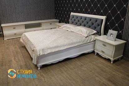 Евроремонт жилой комнаты в трехкомнатной квартире 62,4 кв.м.