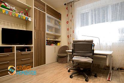 Евроремонт кабинета в четырехкомнатной квартире 86 кв.м.