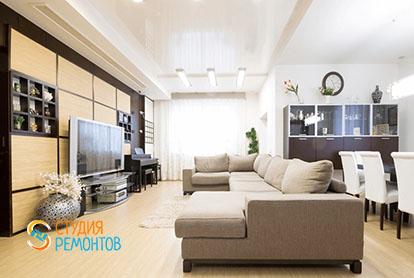 Евроремонт кухни с гостиной в четырехкомнатной квартире 86 кв.м., фото-1