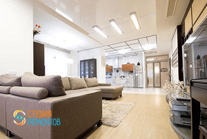 Евроремонт кухни с гостиной в четырехкомнатной квартире 86 кв.м., фото-2