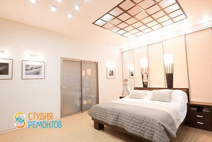 Евроремонт спальни в четырехкомнатной квартире 86 кв.м.