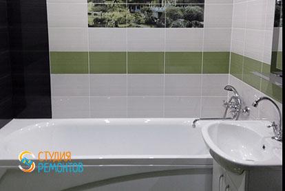 Евроремонт ванной в четырехкомнатной квартире 86 кв.м.
