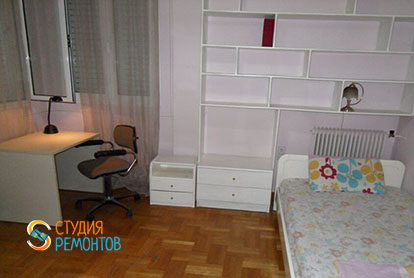 Капитальный ремонт детской комнаты в 4-х комнатной квартире 61 кв.м.