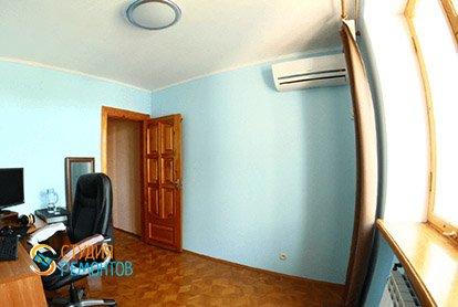 Евроремонт кабинета в 5-комнатной квартире 103 кв.м.