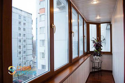 Отделка балкона пластиковыми панелями 5 кв.м.