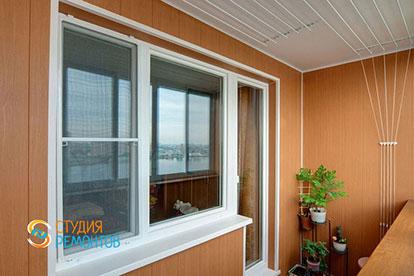 Отделка балкона ПВХ панелями 4 кв.м.