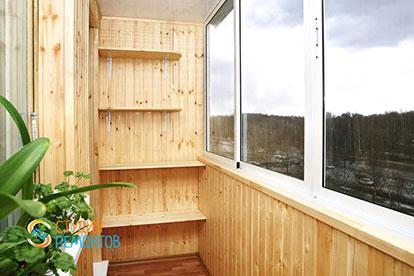 Отделка балкона вагонкой 4,5 кв.м.