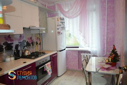 Отделка кухни под ключ 7,5 кв.м.