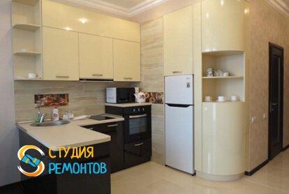 Чистовая отделка кухни в студии 32,5 кв.м.