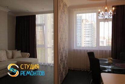 Чистовая отделка жилой комнаты в студии 32,5 кв.м. фото-1