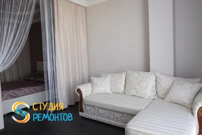 Чистовая отделка жилой комнаты в студии 32,5 кв.м. фото-2