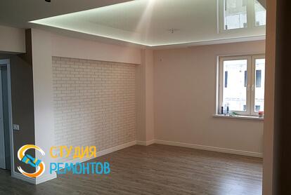 Отделка кухни в квартире-студии 39,5 кв.м. фото-1