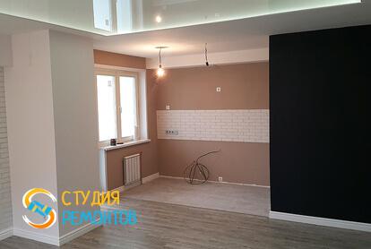 Отделка кухни в квартире-студии 39,5 кв.м. фото-2