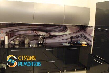 Отделка кухни в квартире студии 51 кв.м.