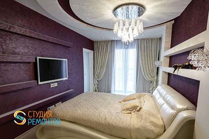 Дизайнерская отделка спальни 13 кв.м.