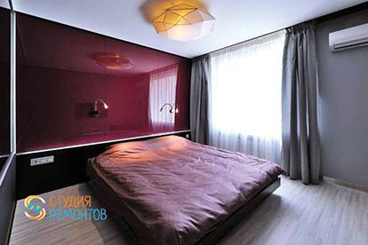 Дизайнерская отделка спальни 18 кв.м.