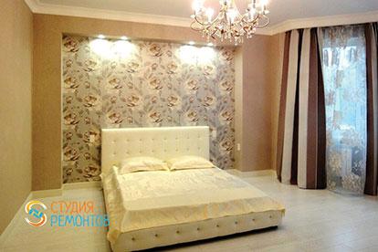 Дизайнерская отделка спальни 20 кв.м.