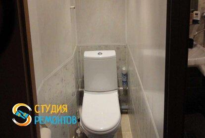 Отделка туалета панелями 1,8 кв.м.